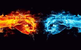 Blue And Red Fire Wallpaper 504