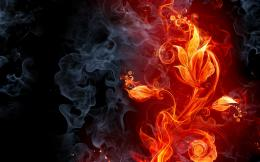 abstract fire flames smoke flowers cg digital art color wallpaper 1369