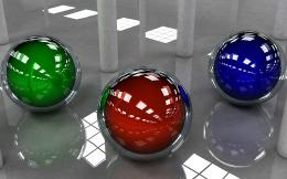 3d Coloued Glass Balls Image Wallpaper #17954 Wallpaper computer 327