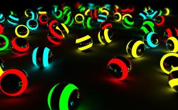 Neon 3d balls wallpaperHD Wallpapers 855
