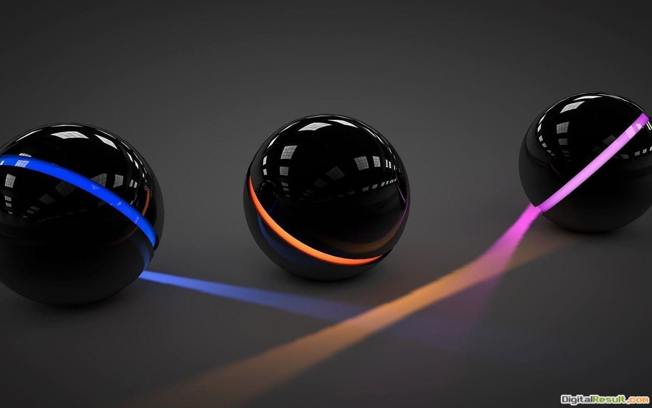Three Dark Balls HD Wallpaper | Slwallpapers 1579