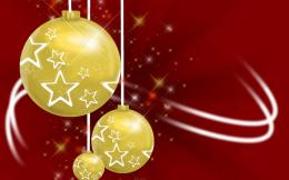Three Gold Christmas Balls Wallpaper1440x900 iWallHDWallpaper HD 418