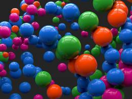 3D Colorful Reflecting Balls HD Desktop Wallpaper 1746