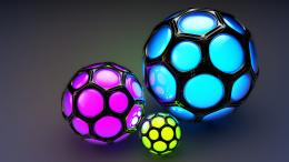 3D Cinema Balls HD Wallpaper 679