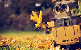 Download wallpaper Wall e, autumn, leaflet free desktop wallpaper in 1981