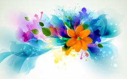 flowers colors abstract vector bright contrast wallpaper background 306