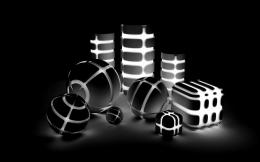 Lighted Black and White shapes | Widescreen and Full HD Wallpapers 371