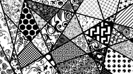Black and white shapes wallpaperVector wallpapers#3782 308