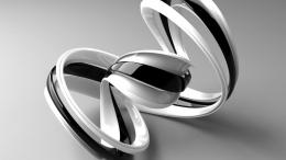 3D Black White Shapes High Quality wallpaper, HD Wallpaper, Background 871