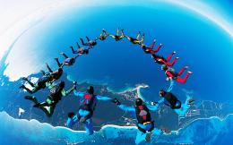 Skydiving Formation Wallpaper HD Wallpaper | WallpaperLepi 1337