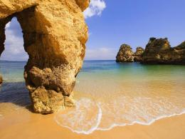 Amazing beach in Algarve Portugal wallpaper in Nature wallpapers 627