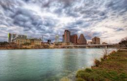 Wallpapers USA Sky Rivers Bridges Austin TX Texas Clouds HDR Cities 119