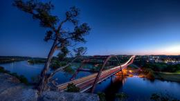 Texas, Austin, Pennybacker bridge, Hdr Wallpaper, Background Full HD 1061