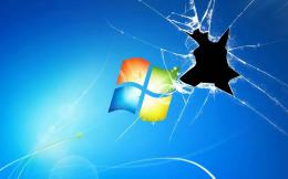 Windows Broken Glass Wallpapers ~ picture for wallpaper 693