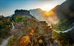 Great Wall of China Sunset Wallpaper HD 1075