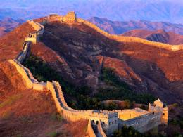 1600x1200 Great Wall of China, China, At sunset 1747