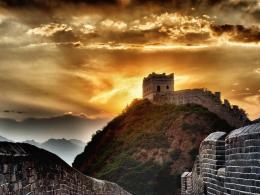 Pin Great Wall Of China At Sunset on Pinterest 1484