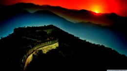 The Great Wall Of China Sunset Hd 1366x768 hd wallpaper #1669310 1384