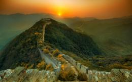 Sunset In Great Wall Of China Wallpaper #6951636 941