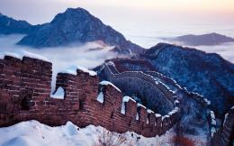 Sunset In Great Wall Of China Wallpaper #6951636 971