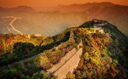 Sunset In Great Wall Of Chinaid: 193193 1816