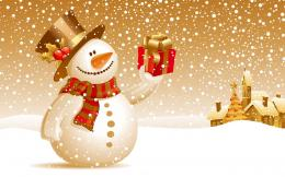 Snowman Christmas Gift Wallpapers | HD Wallpapers 1514