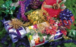Christmas Gifts Background Pattern Wallpaper 865