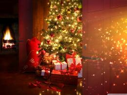 Christmas gifts under a fir tree wallpapers and imageswallpapers 632