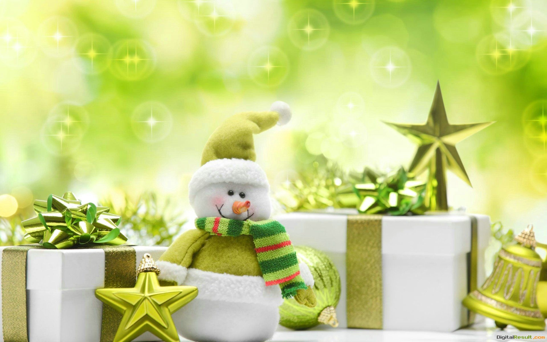 Green Christmas PresentsWallpaper, High Definition, High Quality 1039