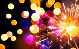 new year merry christmas bokeh texture colorful lights wallpaper 1649