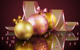 purple and yellow christmas balls hd holiday wallpaper, Wallpapers 1751