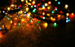 Christmas, Colourful, cute, Garland, Holiday, lights, lovely, New Year 1705