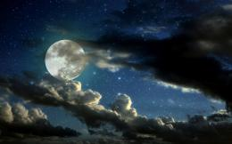 night sky cloudy moon wallpaper jpg 1148