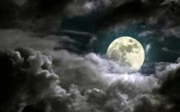 Full Moon On Cloudy Night HD Wallpaper 697