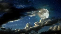 Cloudy moon wallpaper 906