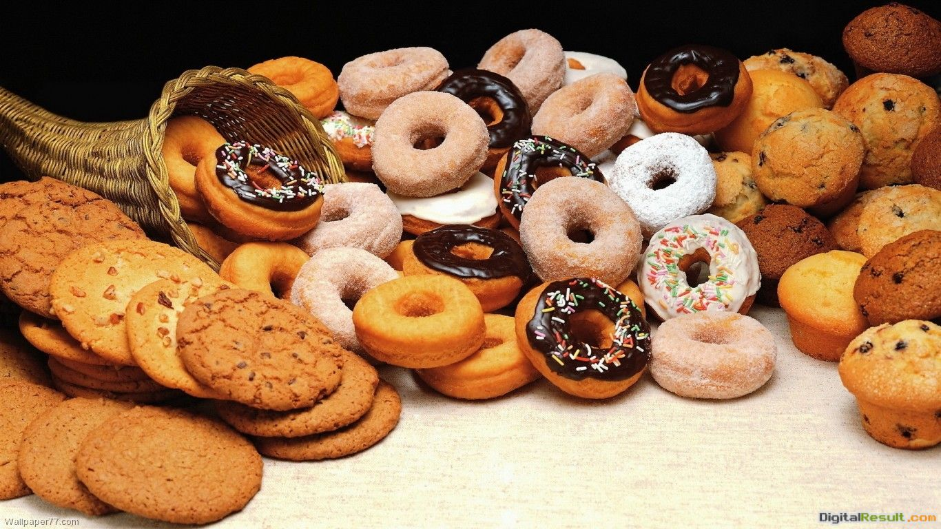 Donuts And Cookies cake wallpapers dessert wallpapers food wallpapers 1895