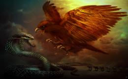 Dragon Vs Snake Wallpaper Phoenix dragon and the snake wallpaper 1201