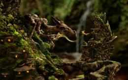 3D Fantasy Wood Dragon HD Wallpapers 118