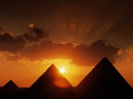 Pyramids At Sunset, Cairo, Egypt Desktop Wallpaper Wallpapers Hd 197