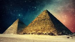 1024x576 Egypt pyramids art Wallpaper 1723