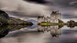 Fantastic Castle Reflection On A Lake Hdr Hd Wallpaper | Wallpaper 1051
