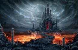 Fantastic world Gothic Castle Moon Fantasy wallpaper background 1998