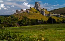 image, scenic, background, picture, castle, wallpaper, albums, corfe 1495