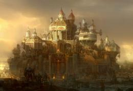 Fantastic world Fantasy Cities sci fi steampunk castle wallpaper 1113