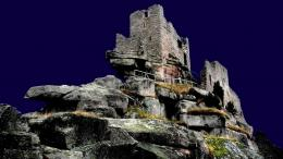 Ancient Castle Ruins At Nightid: 148228– BUZZERG 1441