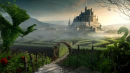 Castle Beyond The Labyrinth Garden Wallpaper | Full HD Wallpapers 1815