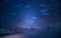 Timelapse Snow Night landscapes mountains sky wallpaper background 743