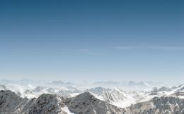 Wallpaper mountains, simple, sky, blue sky, snow desktop wallpaper 1422