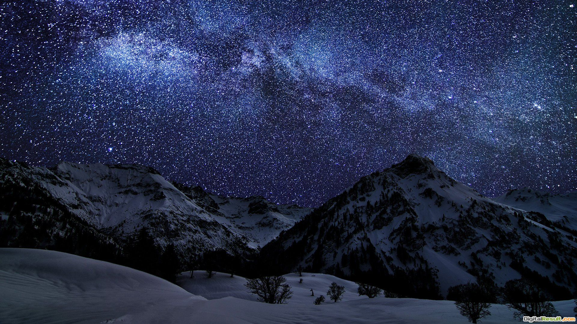 Starry Night In The Mountains Wallpaper » WallDevilBest free HD 270