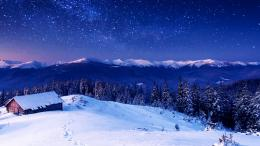 Wallpaper, NatureMountains: Mountains, night, stars, trees, sky 1416